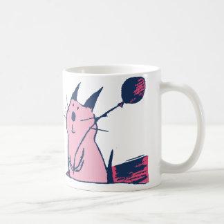 Cute Pink Party Cat Mug