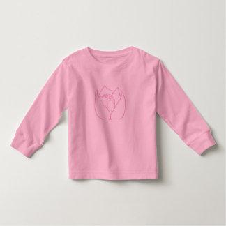 Cute pink sleeping doe long sleeve shirt for girls