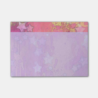 Cute Pink Stars Post-it® Notes