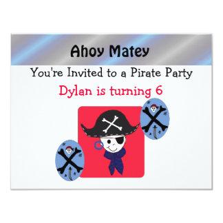 Cute Pirate Party Invitation