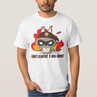 Cute Pirate Raccoon Tee Cartoon Character T-shirt