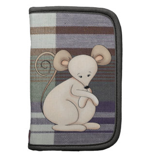 Cute plaid mouse mini day planner