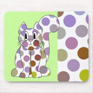 Cute Polka Dot Kitty Cat Mousepad