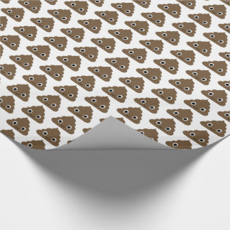 Cute Poop Pattern - Adorable Piles of Doo Doo Wrapping Paper