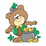 cute pot of gold irish st paddy boy teddy bear
