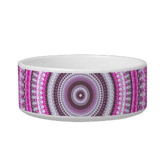 Cute Pretty Pink Mandala pattern pet bowl