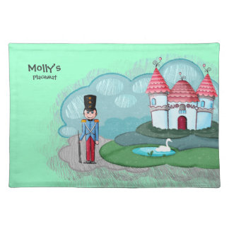 Cute Prince Soldier kids placemat