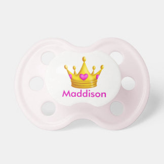 Cute Princess Crown with Personalized Name Dummy