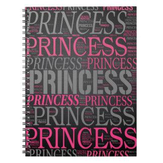 Cute Princess Wordart Notebook