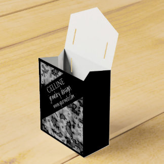 Cute Professional Black White Marble Favour Box