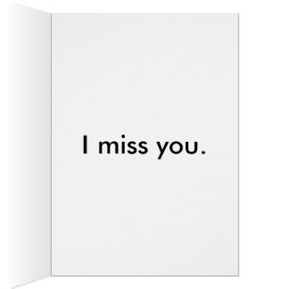 Cute Pug Greeting Card - I Miss You