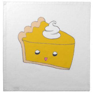 Cute Pumpkin Pie Slice Napkin
