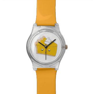 Cute Pumpkin Pie Slice Wrist Watch