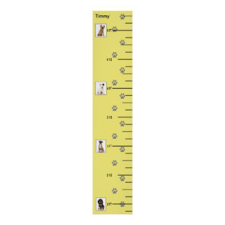 Cute Puppies Growth Chart Poster