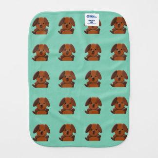 Cute puppy dog burp cloth