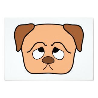 Cute Puppy Dog. 3.5x5 Paper Invitation Card