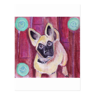 Cute Puppy Dog Painted Postcard