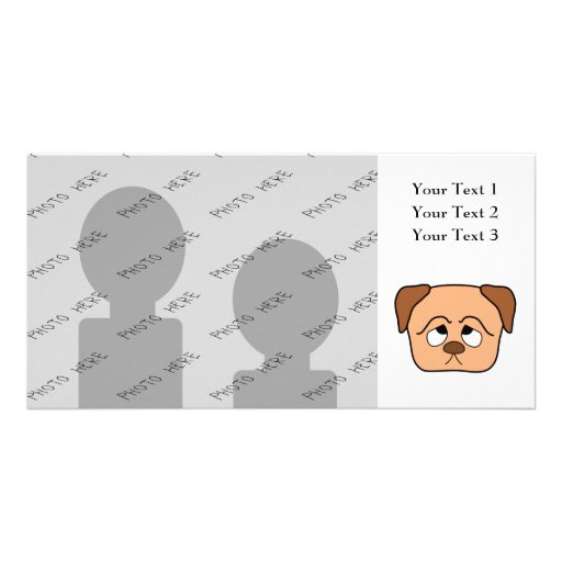 Cute Puppy Dog. Custom Photo Card