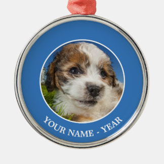 Cute puppy dog (Shitzu) Christmas Ornament