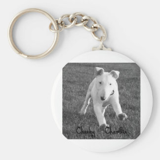 Cute puppy English Bull terrier collection Key Ring