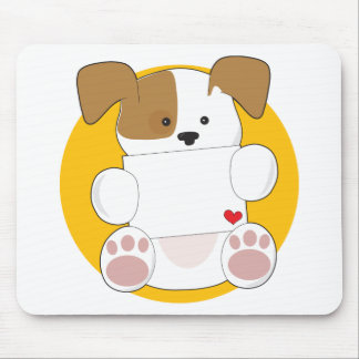 Cute Puppy Letter Mouse Pad