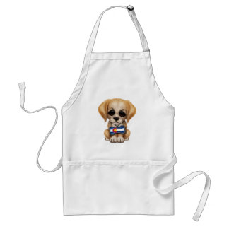 Cute Puppy with Colorado Flag Dog Tag Standard Apron