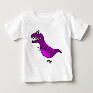 Cute purple angry cartoon dinosaur baby T-Shirt