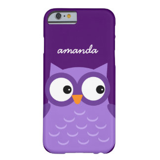 Cute Purple Owl Custom Name For Her A10 Barely There iPhone 6 Case