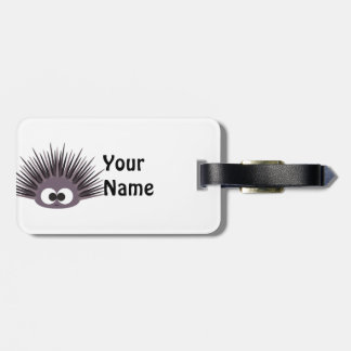 Cute Purple Sea Urchin Luggage Tag