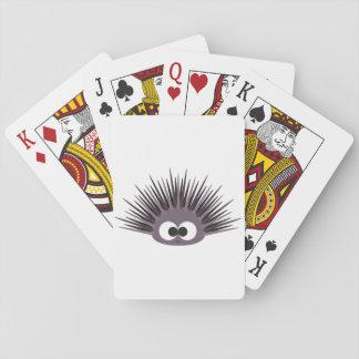 Cute Purple Sea Urchin Playing Cards