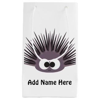 Cute Purple Sea Urchin Small Gift Bag