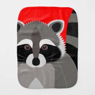 Cute Raccoon Drawing Burp Cloth