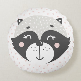 Cute Racoon Kids or Nursery Pillow