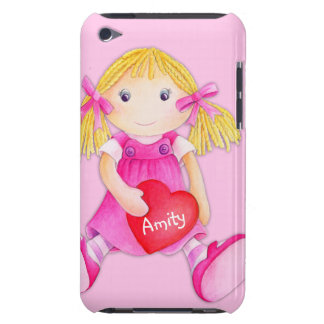Cute rag doll girls name pink ipod touch case