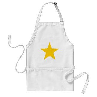 Cute raggedy edged punk yellow star standard apron
