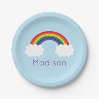 Cute Rainbow Party 7 Inch Paper Plate