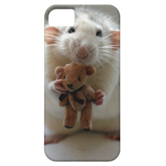 Cute Rat Holding teddy iPhone 5 Covers