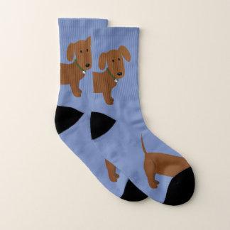 Cute Red Dachshunds Socks