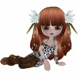 Cute Red Hair Girl Magnet Cut Outs