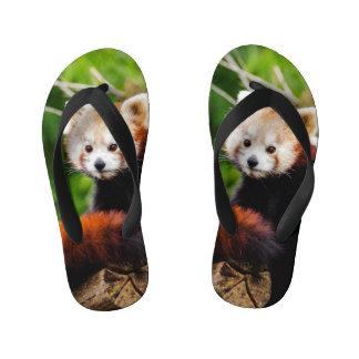Cute Red Panda Bear Kid's Jandals