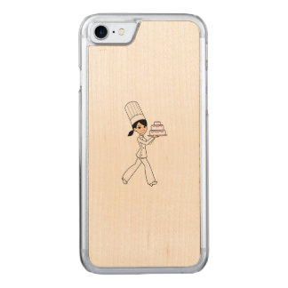 Cute Retro Cartoon Kawaii for Her Carved iPhone 8/7 Case