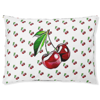 Cute Retro Style Cherry Dog Bed