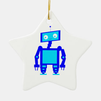 Cute Robot Christmas Ornament