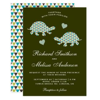 Cute Romantic Turtles Wedding Invitation