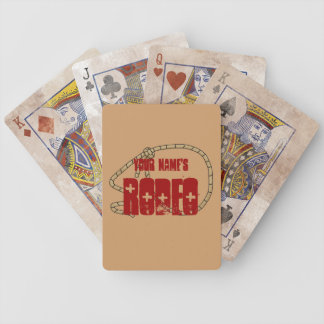 Cute Roping Lasso Frame - Your Name Rodeo Western Poker Deck