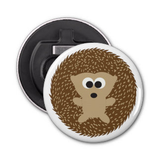 Cute Round Hedgehog Bottle Opener
