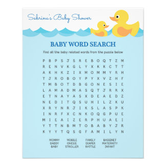 Cute Rubber Duck Theme Baby Shower Game 11.5 Cm X 14 Cm Flyer