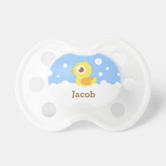Cute Rubber Ducky in Bubble Bath for Baby Boy Dummy