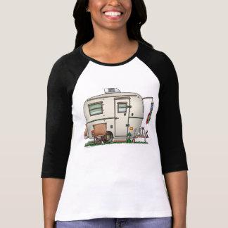 Cute RV Vintage Glass Egg Camper Travel Trailer T-Shirt
