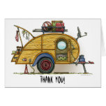 Cute RV Vintage Teardrop  Camper Travel Trailer